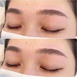 眉の毛の長さを大切に